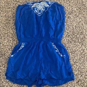 Blue forever 21 Romper medium